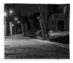 Walk Along The Canal In Venice  Fleece Blanket