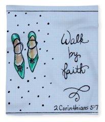 Walk By Faith Fleece Blanket