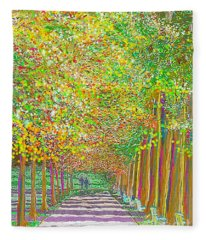 Walk In Park Cathedral Fleece Blanket