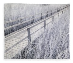 Walk Through The Marsh Fleece Blanket