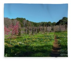 Walk Through The Orchard Fleece Blanket