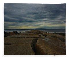 Walk To The Sea Fleece Blanket