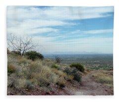 Walk Your Own Path Fleece Blanket