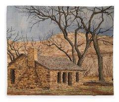 Walker Homestead In Escalante Canyon Fleece Blanket