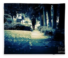 Walking A Lonely Path Fleece Blanket