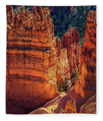 Walking Among Giants Fleece Blanket