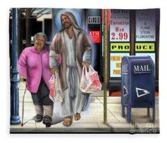 Walking By Faith Fleece Blanket