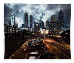 Walking Dead Tribute Downtown Atlanta Georgia  Fleece Blanket