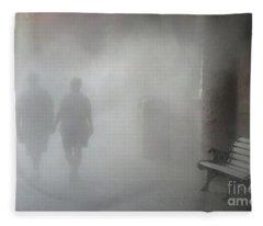 Walking Into The Unknown Fleece Blanket