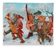 Walking Musicians Fleece Blanket