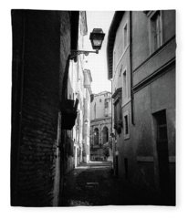 Walking Near The Campidoglio Fleece Blanket