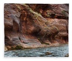 Walking The Narrows Fleece Blanket