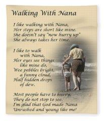 Walking With Nana Fleece Blanket