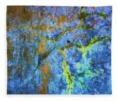 Wall Abstraction I Fleece Blanket