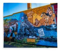Wall Mural In Alpine Texas Fleece Blanket