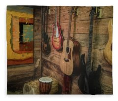 Wall Of Art And Sound Fleece Blanket
