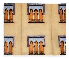 Wall Of Windows Fleece Blanket