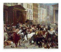 Wall Street: Bears & Bulls Fleece Blanket