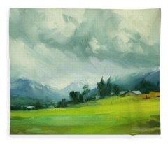 Wallowa Valley Storm Fleece Blanket
