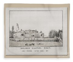 Walmer Castle Kent Fleece Blanket