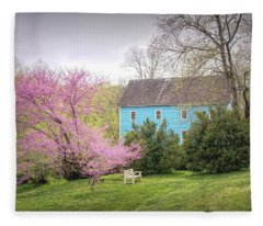 Walnford In Spring Fleece Blanket