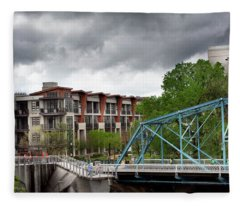 Walnut And Glass Bridge Fleece Blanket