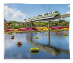 Walt Disney World Epcot Flower Festival Fleece Blanket