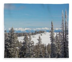 Walton Peak  Fleece Blanket