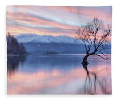 Wanaka Sunset Fleece Blanket