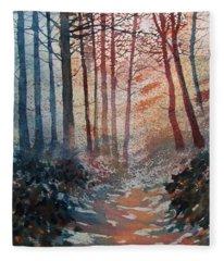Wander In The Woods Fleece Blanket