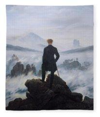 Wanderer Above The Sea Of Fog Fleece Blanket