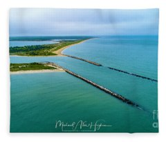 Waquiot Bay Breakwater Fleece Blanket
