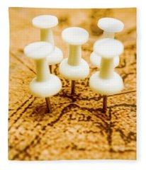War Game Tactics Fleece Blanket