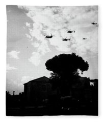 War Helicopters Over The Imperial Fora Fleece Blanket