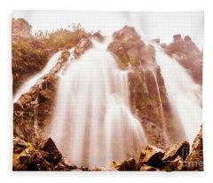 Waratah Wild Waterfall Fleece Blanket