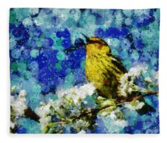 Warbler Of Spring Fleece Blanket
