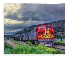 Warbonnet F7 Santa Fe Locomotive Fleece Blanket