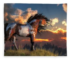Warhorse Fleece Blanket