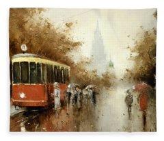 Warm Moscow Autumn Of 1953 Fleece Blanket