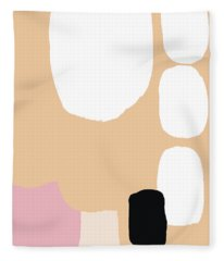 Fleece Blanket featuring the painting Warm Pastel Abstract by Cortney Herron