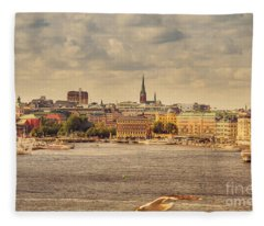 Warm Stockholm View Fleece Blanket