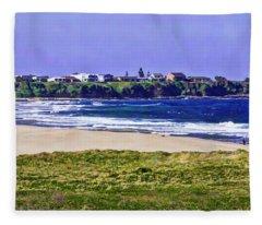 Warrain Beach And Culburra Town Fleece Blanket