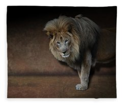 Was That My Cue? - Lion On Stage Fleece Blanket