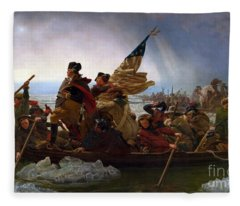 Washington Crossing The Delaware River Fleece Blanket