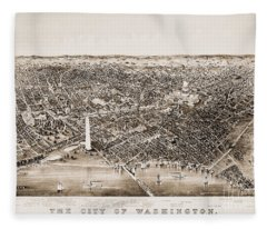 Washington D.c., 1892 Fleece Blanket