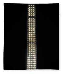 Washington Monument In Repair Fleece Blanket