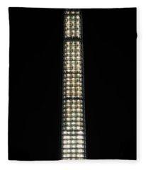 Washington Monument In Repair Fleece Blanket