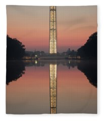 Washington Monument At Dawn Fleece Blanket
