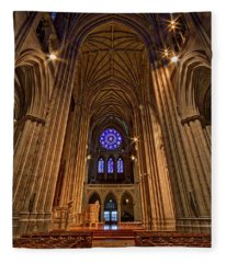 Washington National Cathedral Crossing Fleece Blanket