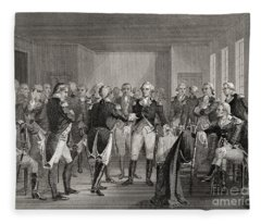 Washington Parting From His Officers At Fraunces Tavern, New York City, Usa, On December 4th 1783 Fleece Blanket